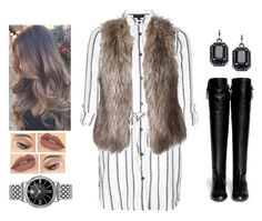 """""""Taller"""" by teodoramaria98 ❤ liked on Polyvore featuring Topshop, Giuseppe Zanotti, Fiorelli and Versace"""