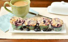 Blueberry Swirl Streusel Muffins