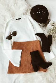 suede skirt outfit ideas winter style