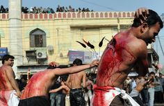 Way too far ~ Self Flagellation Slideshow: Religious People Beat, Impale Selves With Knives