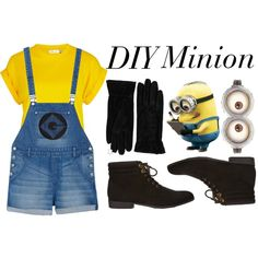 DIY Minion Costume being this for halloween with black leggings Diy Minion Costume, Minion Halloween Costumes, Cute Costumes, Disney Costumes, Halloween Outfits, Halloween Diy, Cute Minions, Fantasias Halloween, Halloween Disfraces