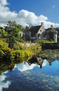 Scotney Castle ~ is an English country house with formal gardens southeast of Lamberhurst in the valley of the River Bewl, Kent, England