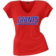 New York Giants - Showtime Premium Juniors V-Neck T-Shirt