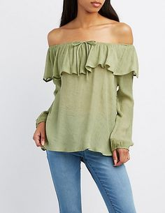 Ruffle Off-The-Shoulder Top | Charlotte Russe