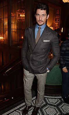 Model David Gandy explains why he turned down a role in 'Fifty Shades of Grey', commenting that it just didn't feel right for him. 1950s Jacket Mens, Cargo Jacket Mens, Green Cargo Jacket, Grey Bomber Jacket, Suit Jacket, Leather Jacket, David Gandy Style, David James Gandy, Tommy Hilfiger