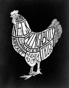 Chicken Parts Illustration for Food  Wine Magazine / Matthew Allen