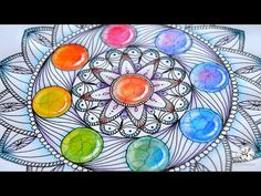 How to draw Mandala with Rainbow Gems | Colored Pencil Tutorial - YouTube