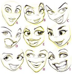 Today's Drawing Class 101: Cartoons and animations || Cartoon faces