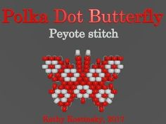 Bead Butterfly Weaving Marathon. Butterfly #28 - Polka Dot. Beading Cartoon - YouTube