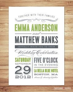 LOVE these invitations/RSVP cards
