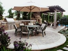 Custom, Patio Outdoor Kitchens standard size 12-14 ft for 48 in round table The Green Scene Chatsworth, CA