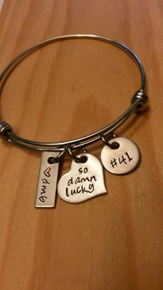 Hand Stamped Wire Bangle Bracelet by on Etsy Key To My Heart, Heart Charm, Bangle Bracelets, Bangles, Sweet Like Candy, Bff Tattoos, Dave Matthews Band, Piercings, Adjustable Bracelet