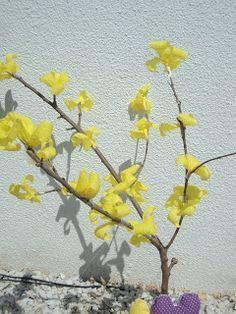 Como Fazer Flores De Ipe Com Galho Seco E Papel Crepom Como