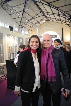 3eme édition du Forum de la Mixité: Emmanuelle Gagliardi, co-créatrice de l'agence CONNECTING WoMEN et du Forum de la Mixité, est accompagnée de Christophe Girard le Maire du 4eme arrondissement de Paris.