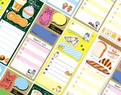 New Japanese Style  Sticky Planner Notes, Post It Notes, Reminder Notes, Memo Pad Stickers by GinkoSupplies on Etsy