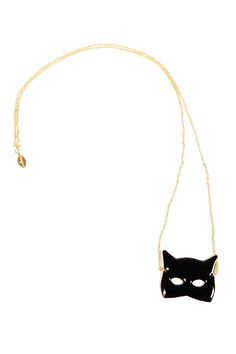 Black Cat Mask Necklace