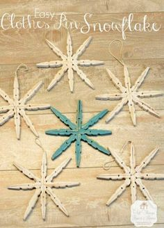 Clothespin Snowflakes & thoughts on broken things... - All Things Heart and Home