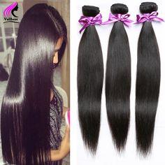 Echthaar Extensions Peruanische Reine Haar Gerade 3 Bundles Gerade Peruanische Reine Haar Gerade Webart Natürliche Braune Gewellte