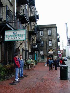 Savannah, GA : Shops on River Street, Savannah GA