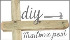 Black and White Obsession | DIY Mailbox Post
