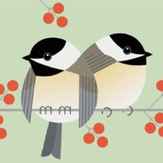 Maybe my MOST favorite bird artist!  Chickadees