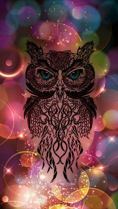 60 Owl Iphone Wallpapers Ideas Owl Owl Wallpaper Geometric Owl