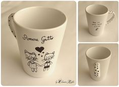 Taza decorada by Claudia Raffa, via Flickr