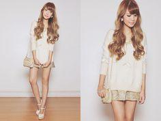 Sheinside Sweater, H Skirt, Topshop Bag, Sm Accessories Necklace | 020413 (by Tricia Gosingtian) | LOOKBOOK.nu