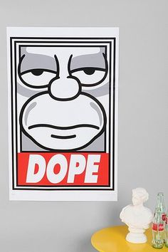 Shepard Fairey X The Simpsons Dope Poster