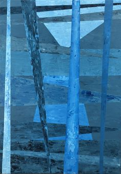 Blue reeds 100x70 cm 4200€ Bleu de couleurs mélangeant toutes ces nuances, où la géométrie se mêle à l'abstrait. La divinité représentant le pouvoir, cette énergie lumineuse, l'étoile brûlante, notre soleil. Dans la profondeur d'un monde parallèle, ces roseaux jaillissant vers ce ciel azur recherchant la chaleur du créateur. Ciel, Les Oeuvres, Original Paintings, The Originals, Shades, Acrylic Paintings, Abstract Backgrounds