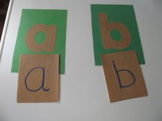 Homemade Montessori Sandpaper Letters