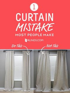 "Did you know you can ""train"" drapes to hang right by tying them up with string? Learn how to train drapes + your windows will thank you."
