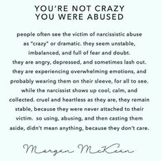 Victims of narcissistic abuse appear crazy while their abusers appear calm and cool. Narcissistic People, Narcissistic Mother, Narcissistic Behavior, Narcissistic Abuse Recovery, Narcissistic Personality Disorder, Narcissistic Sociopath, Survivor Quotes, Abuse Survivor, A Silent Voice