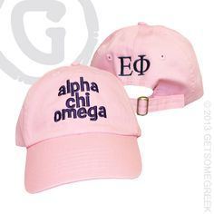 ALPHA CHI OMEGA CUSTOM GROUP ORDER ON EMBROIDERED HATS. HOW CUTE IS THE CHAPTER NAME ON THE BACK!! #ALPHACHI #ACHIO Alpha Sigma Alpha, Alpha Chi Omega, Sigma Tau, Sorority Sugar, Greek Life, Embroidered Hats, College Life, Swag, Group
