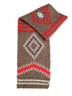 Wool Blend Jacquard Scarf