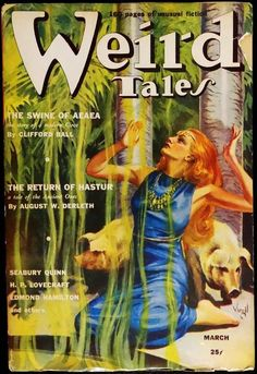 The Swine Of Aeaea by Clifford Ball. #Weird Tales, March 1939. Cover by Virgil Finlay