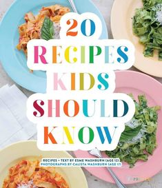 [tasty review] 20 Recipes Kids Should Know by Esme and Calista Washburn