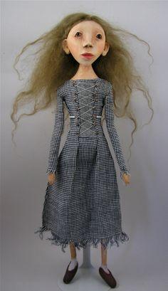 Contemporary Folk Art Doll cloth and clay by CindyRiccardelli, $175.00