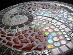 Mosaic table spiral enlarged