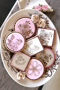 Julia Usher + Red Lead Rubber Stamps!  We are totally in love with these cookies - thank you Julia for stamping with Red Lead stamps!
