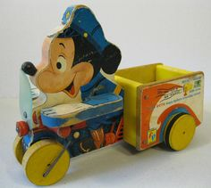 1956 Fisher Price Mickey Mouse Patrol Pull Toy