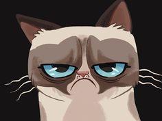 Cartoon version of Grumpy Cat (Tard)
