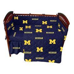 University of Michigan Wolverines 5 Piece Baby Crib Bedding Set
