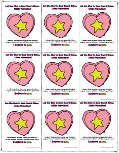 Free printable Valentine's Day cards to give to your students!