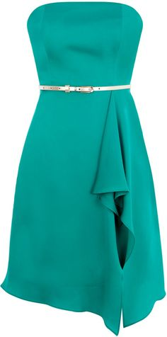 Coast Felicia Bandeau Dress in Green (jade) - Lyst