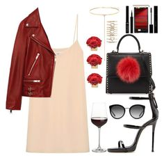 """""""Red&Black"""" by mairytaken ❤ liked on Polyvore featuring Raey, Les Petits Joueurs, Jakke, Shay, Aéropostale, Giuseppe Zanotti, Gucci, L'Oréal Paris, Giorgio Armani and Dolce&Gabbana"""