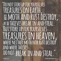 Matthew 6:19-20 AdjustingToTheWorld.com