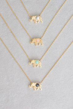 Elephant Necklace / Diamond Elephant Charm Necklace in Gold / Gold Necklace / Baby Elephant / Lucky Charm Necklace / Animal Necklace - Fine Jewelry Ideas Cute Jewelry, Body Jewelry, Jewelry Accessories, Jewelry Necklaces, Women Jewelry, Fashion Jewelry, Gold Bracelets, Jewlery, Silver Jewelry