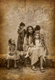 "But Jesus called them unto Him and said, ""Suffer little children to come unto Me, and forbid them not, for of such is the Kingdom of God. Lk Jesus Loves the little children.All the children of the world. Image Jesus, Saint Esprit, A Course In Miracles, Jesus Pictures, Jesus Pics, God Jesus, Heavenly Father, Religious Art, Jesus Loves"