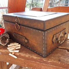 Decoupage Box, Hope Chest, Storage Chest, Furniture, Home Decor, Craft, Crates, Decoration Home, Room Decor